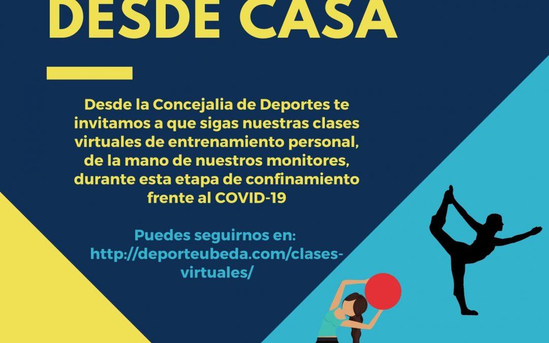 EL AYUNTAMIENTO DE ÚBEDA OFRECE CLASES VIRTUALES DE ENTRENAMIENTO PERSONAL