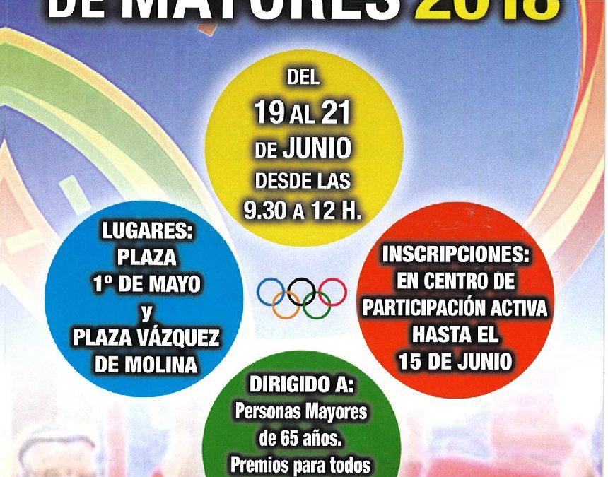 I Olimpiadas de Mayores 2018